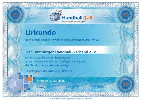Neuer Aktionär bei der Handball4all AG